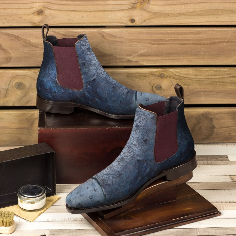 Ostrich Chelsea Boots